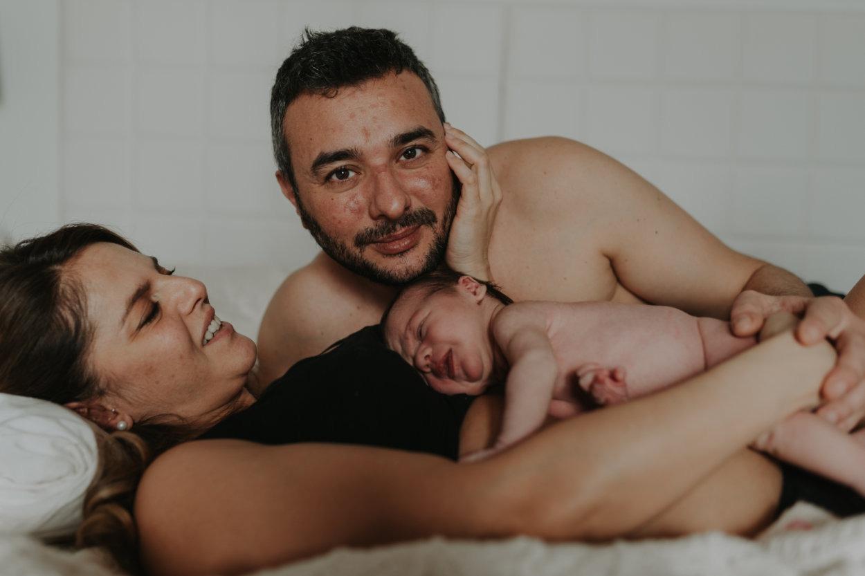 Emma e Alessio pre e new born