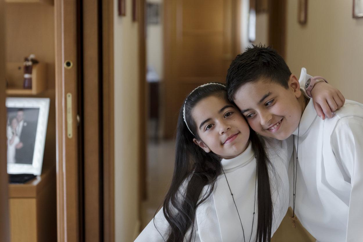 la comunione di Simone e Francesca